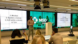 Giving a talk at UX Monday (MSD, Prague)