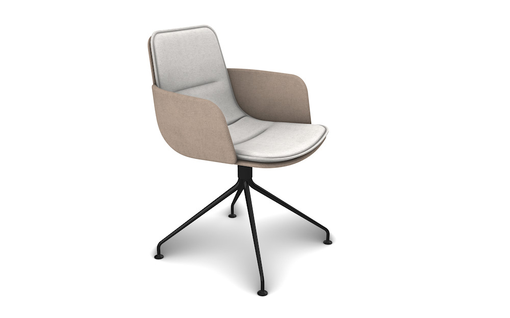 3D model of an office chair for an interior furniture library